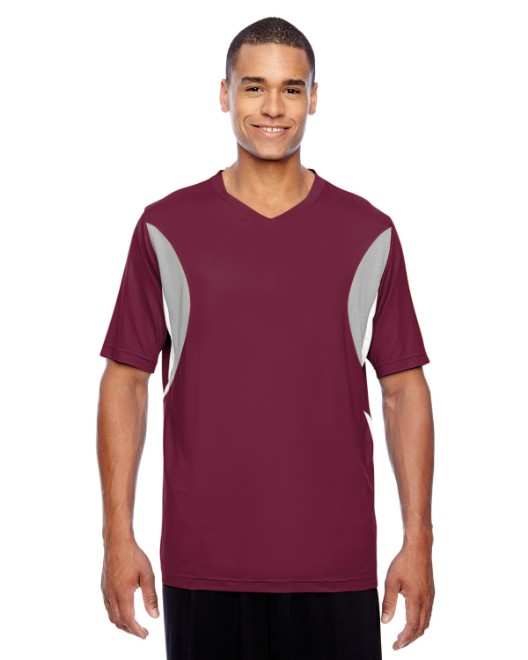 Picture of Team 365 TT10 Men's Short-Sleeve Athletic V-Neck Tournament Jersey
