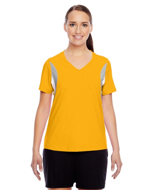 Picture of Team 365 TT10W Womens Short-Sleeve Athletic V-Neck Tournament Jersey