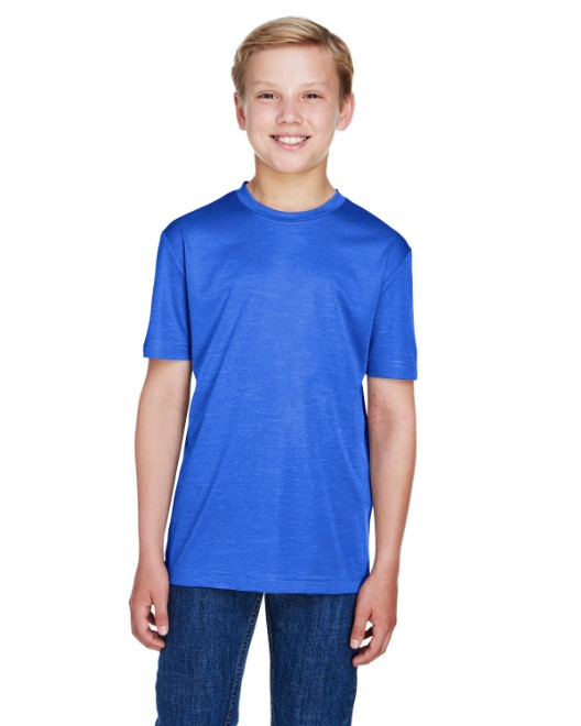 Picture of Team 365 TT11HY Youth Sonic Heather Performance T-Shirt