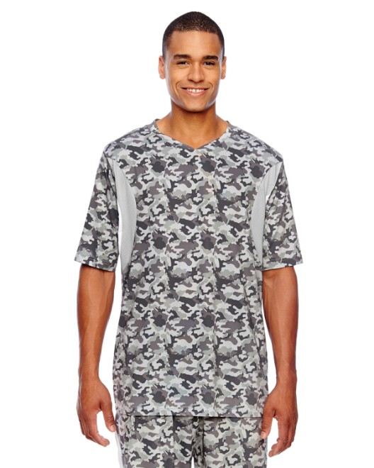 Picture of Team 365 TT12 Men's Short-Sleeve Athletic V-Neck Tournament Sublimated Camo Jersey