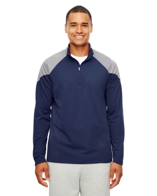 Picture of Team 365 TT27 Men's Command Colorblock Snag Protection Quarter-Zip