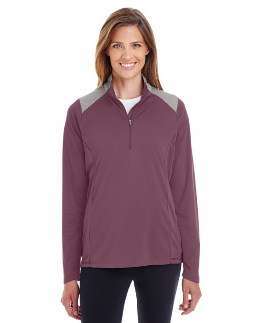 Picture of Team 365 TT27W Womens Command Colorblock Snag Protection Quarter-Zip