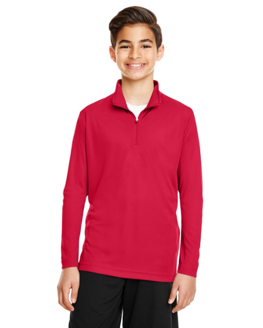 Picture of Team 365 TT31Y Youth Zone Performance Quarter-Zip