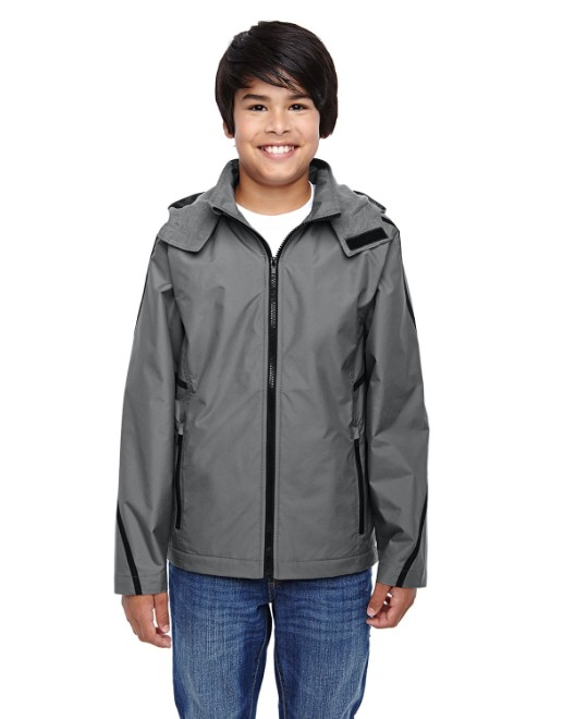 Picture of Team 365 TT72Y Youth Conquest Jacket with Fleece Lining