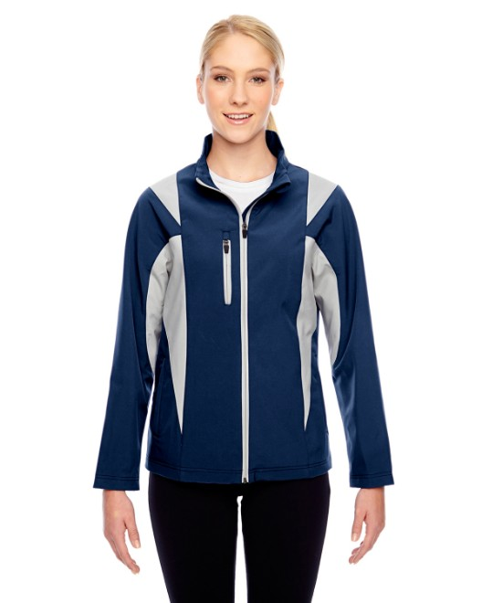 Picture of Team 365 TT82W Womens Icon Colorblock Soft Shell Jacket