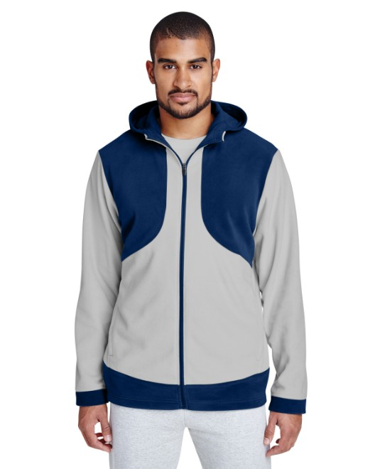Picture of Team 365 TT94 Men's Rally Colorblock Microfleece Jacket