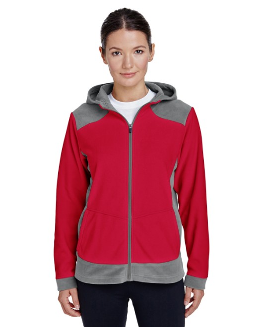 Picture of Team 365 TT94W Womens Rally Colorblock Microfleece Jacket