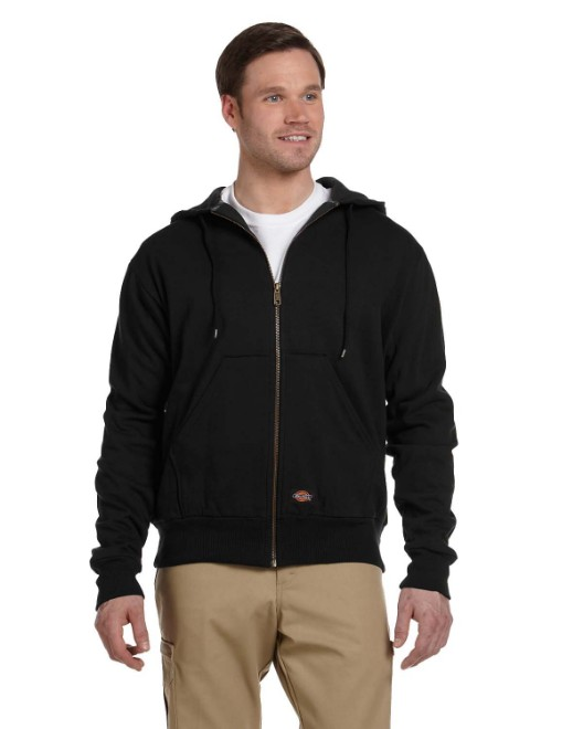 Picture of Dickies TW382 Men's 470 Gram Thermal-Lined Fleece Hooded Jacket