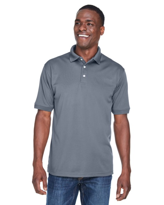 Picture of UltraClub U8315 Men's Platinum Performance Pique Polo with TempControl Technology
