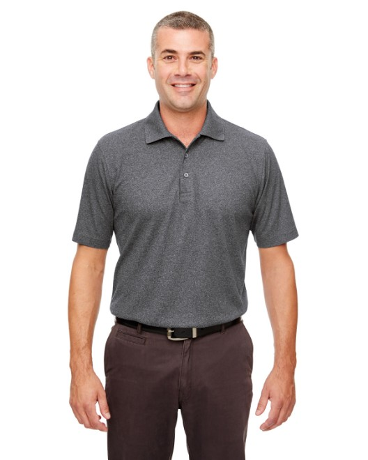 Picture of UltraClub UC100 Men's Heathered Pique Polo