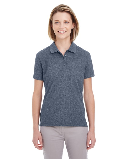 Picture of UltraClub UC100W Womens Heathered Pique Polo