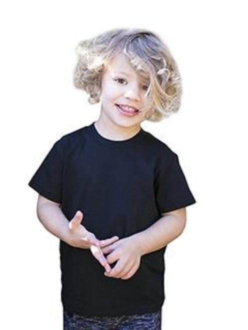 Picture of US Blanks US2001K Toddler Organic Cotton Crewneck T-Shirt