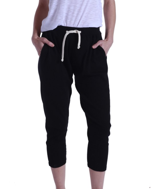 Picture of US Blanks US204 Womens 2x1 Ribbed Capri Sweatpant