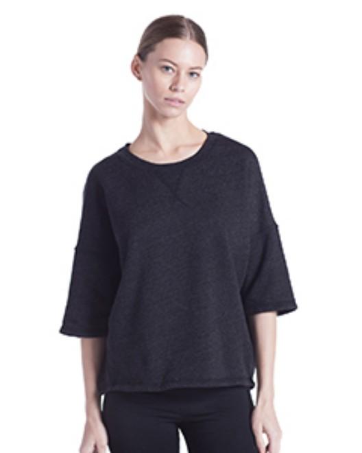 Picture of US Blanks US218 Womens Open Cross Back Drop Shoulder Sweatshirt