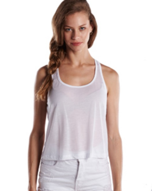 Picture of US Blanks US510 Womens Sheer Cropped Racer Tank