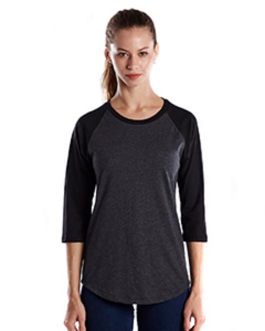 Picture of US Blanks US600 Womens 4.3 oz., 3/4-Sleeve Baseball Raglan