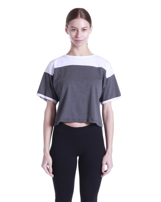 Picture of US Blanks US608 Womens 5.8 oz. Boxy Yoke Recycle Tee