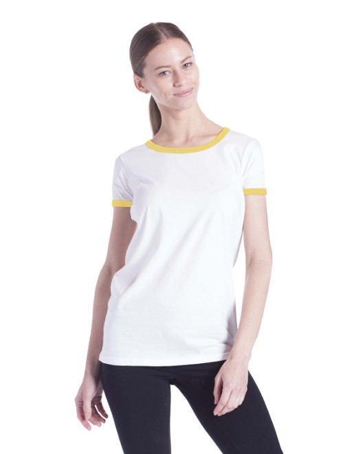 Picture of US Blanks US609 Womens Classic Ringer T-Shirt