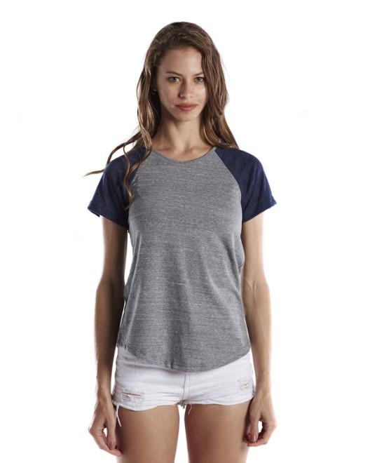 Picture of US Blanks US618 Womens 4.9 oz. Shirttail Raglan