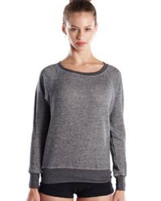 Picture of US Blanks US870 Womens French Terry Raglan Boat Neck
