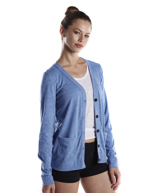 Picture of US Blanks US950 Womens 4.9 oz. Long-Sleeve Cardigan