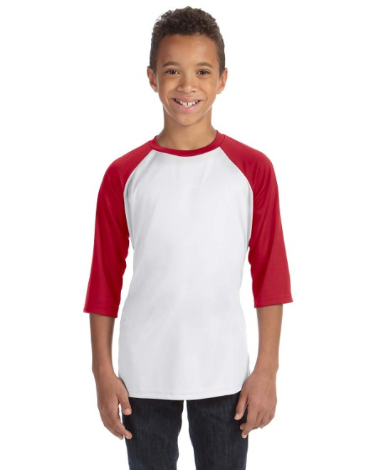 Picture of All Sport Y3229 Youth Baseball T-Shirt