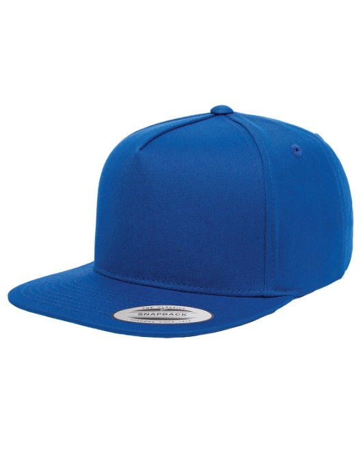 Picture of Yupoong Y6007 Adult 5-Panel Cotton Twill Snapback Cap