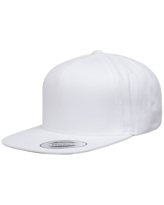 Picture of Yupoong YP5089 Adult 5-Panel Structured Flat Visor Classic Snapback Cap